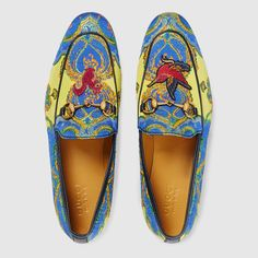 Gucci Jordaan floral jacquard loafer - Gucci Jordaan Loafer - Ideas of Gucci Jordaan Loafer - Gucci Jordaan floral jacquard loafer Best Shoes For Men, Men S Shoes, Mocassin Gucci, Gucci Jordaan Loafer, Mens Slippers, Well Dressed Men, Gucci Men, Gucci Shoes, Luxury Shoes