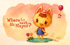 The most adorable cat in the Animal Crossing universe, Katie :) !