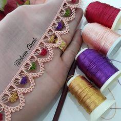 Crochet Edging Patterns, Crochet Borders, Crochet Motif, Baby Knitting Patterns, Crochet Designs, Crochet Lace, Crochet Stitches, Romanian Lace, Fabric Embellishment
