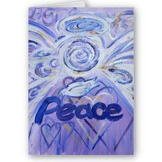 Pecae Angel Art Greeting Card