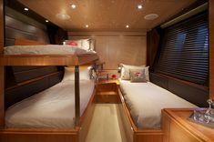 Sailing Yacht SHARLOU (ex Sarissa) is a sloop built by Vitters, delivered in Luxury Yacht Interior, Luxury Yachts, Barge Interior, Camper Interior, Small Living, Living Spaces, Viking Yachts, Narrowboat Interiors, State Room
