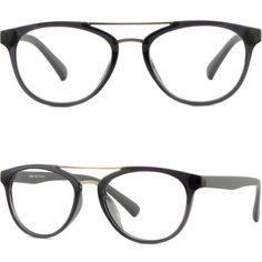 Men Women Frames Prescription Glasses Sunglasses Double Bridge TR90 Plastic Grey #Unbranded