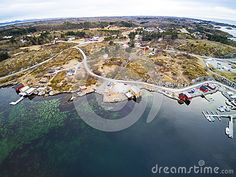 Vegetation On The Coast Of Norway. Tourist Bay, Early Spring Editorial Stock Photo - Image of aerial, island: 89890308 Early Spring, Aerial View, Norway, Vectors, Coast, Sign, Island, Stock Photos, Free