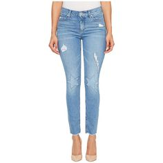 Lucky Brand Americana Mid-Rise Skinny Jeans in Horizon City (Horizon... ($83) ❤ liked on Polyvore featuring jeans, blue ripped skinny jeans, blue jeans, lucky brand jeans, skinny fit jeans and ripped skinny jeans