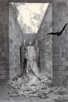 """Gustave Doré's Hauntingly Beautiful 1883 Illustrations for Edgar Allan Poe's """"The Raven"""" 