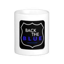 BACK THE BLUE SUPPORT POLICE COFFEE MUG