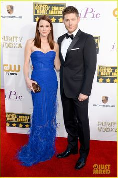 Jensen Ackles and his wife Danneel. - Critics' Choice Awards 2014