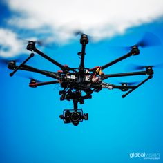 An octocopter drone #DJI S1000 features a full-HD camera, let's drone with us!