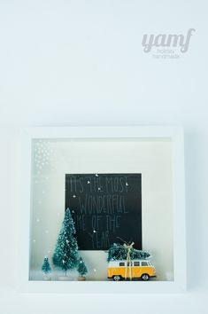 By far my favorite shadow box. you are my fave: holiday shadowbox Merry Little Christmas, Christmas Love, Christmas Crafts For Kids, Christmas Projects, Christmas And New Year, All Things Christmas, Winter Christmas, Holiday Crafts, Holiday Fun