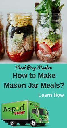 Meal Prep Master - My WordPress Website Lunch Snacks, Healthy Snacks, Healthy Eating, Lunches, Lunch Menu, Mason Jar Meals, Meals In A Jar, Mason Jars, Easy Meal Prep
