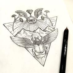 By Chen pin #Egypt #chenpin #tattoo