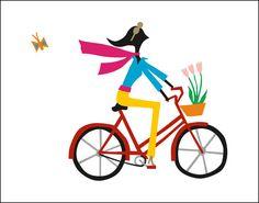 R. Nichols, Bicyclist Print