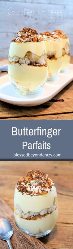 GF Butterfinger Parfaits - here's what you do with leftovers! Make gluten free parfaits!!!