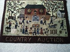 Hand Hooked Wool Rug -Peggy Teich -amazing detail