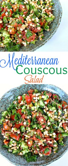 Mediterranean Couscous Salad-A fresh new twist on couscous with the flavors of tabouli!