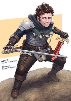 C: Gordie, Halfling Fighter Rogue by bchart.deviantart.com on @DeviantArt