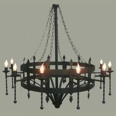 Great medieval chandelier!