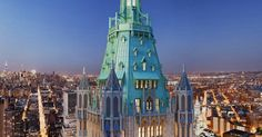 Woolworth Building Penthouse Hits the Market for $110 Million - WSJ Woolworth Building, Washington Square Park, East River, World Trade Center, Edificio Woolworth, Bel Air, Central Park, Empire State Building, Twin Towers