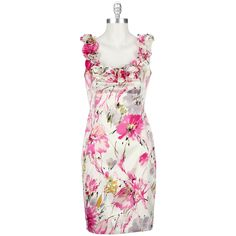 London Times Printed Rosette Strap Dress #VonMaur