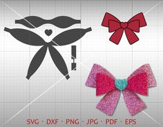 38 New Ideas Cars Png Silhouette Making Hair Bows, Diy Hair Bows, Diy Bow, Bow Making, Card Making, Felt Bows, Ribbon Bows, Bow Template, Bow Pattern