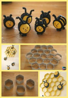 10 Cutest DIY Toilet Paper Roll Crafts – For Kids #recycling #kidscraft Bee Crafts For Kids, Easy Diy Crafts, Creative Crafts, Diy For Kids, Toilet Paper Roll Crafts, Paper Crafts, Diy Paper, Diy Fluffy Slime, Bumble Bee Birthday