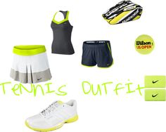 """TeNnIs OuTfIt(:"" by alexa618 on Polyvore"