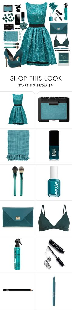 """~Teal~"" by bubblegum59 ❤ liked on Polyvore featuring Christian Pellizzari, NARS Cosmetics, Surya, JINsoon, MAC Cosmetics, Essie, Jimmy Choo, Polaroid, Bobbi Brown Cosmetics and Stila"