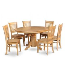 East West Furniture AVVA5-OAK-C 5 Piece Dining Set-Table and 4 Dinette Chairs - Walmart.com