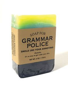 Soap for Grammar Police - NEW!