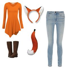 """fox costume"" by trisha-cornelsen on Polyvore featuring Alexander Wang and Clarks More"