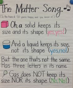 The Matter Song... Solid, Liquid, Gas!