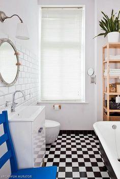 Ciekawa łazienka w stylu nowojorskiego art deco