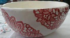 lace doily on bowl