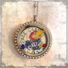 Kansas Jayhawks sports locket