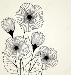 Silhouette Of Garden Flowers In The Background Royalty Free Cliparts, Vectors, And Stock Illustration. Image 14127427.