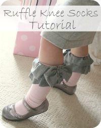 adorable ruffle socks to make!