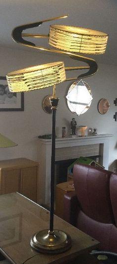 SUPER RARE!!! Vintage 1950's MAJESTIC FLOOR Z LAMP Boomerang Atomic | eBay