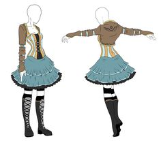 Outfit Adopt - Steampunk Alice - SOLD by ShadowInkAdopts.deviantart.com on @deviantART