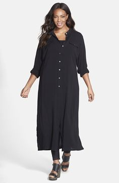 Plus Size Maxi Shirt Dress - [%Since people found the ramifications of synthetic substances, harsh chemicals, pesticides a Plus Size Maxi, Plus Size Tops, Plus Size Women, Plus Size Outfits, Cute Dresses, Dresses For Work, Maxi Shirt Dress, Best Wear, Curvy Fashion