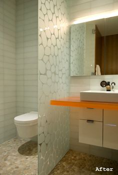 fun modern bathroom, not for me, but interesting to look at