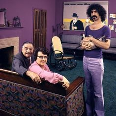 Frank Zappa and his parents.