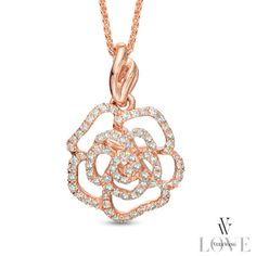 Vera Wang LOVE Collection 0.25 CT. T.W. Diamond Rose Pendant in 14K Rose Gold - Peoples Jewellers Vera Wang LOVE Collection 0.25 CT. T.W. Diamond Rose Pendant in 14K Rose Gold - - View All Jewellery - Peoples Jewellers