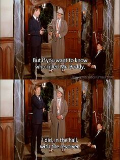 Clue - Mr Green, in the hall, with the revolver...