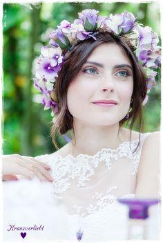 Haarkranz, Haarschmuck, Blumenkranz, Brautschmuck für die Braut ,Hochzeit,  by Kranzverliebt
