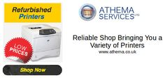 Athema is a trusted retailer bringing you a variety of printers models in both refurbished and new. You have to choose the right one that is convenient for you and place your order.  #RefurbishedPrinters