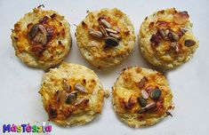 Szinte szénhidrátmentes pogácsa   MásTészta Baked Potato, Muffin, Potatoes, Baking, Breakfast, Health, Ethnic Recipes, Food, Lifestyle