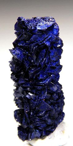 "New Find! Rarely Seen 1.75"" Azurite Stalactite, Morocco! AZ1023"
