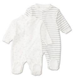 10€ Pijamas para bebés en blanco
