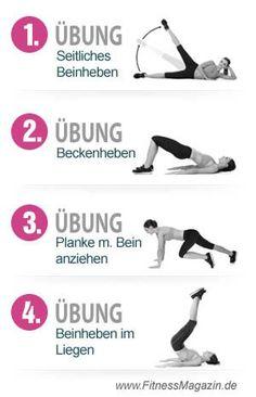 4 Uebungen Bauch Beine Po