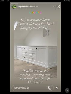 Bedroom Cabinets, Bedroom Loft, Attic, Carpet, Mirror, Furniture, Ideas, Home Decor, Loft Room